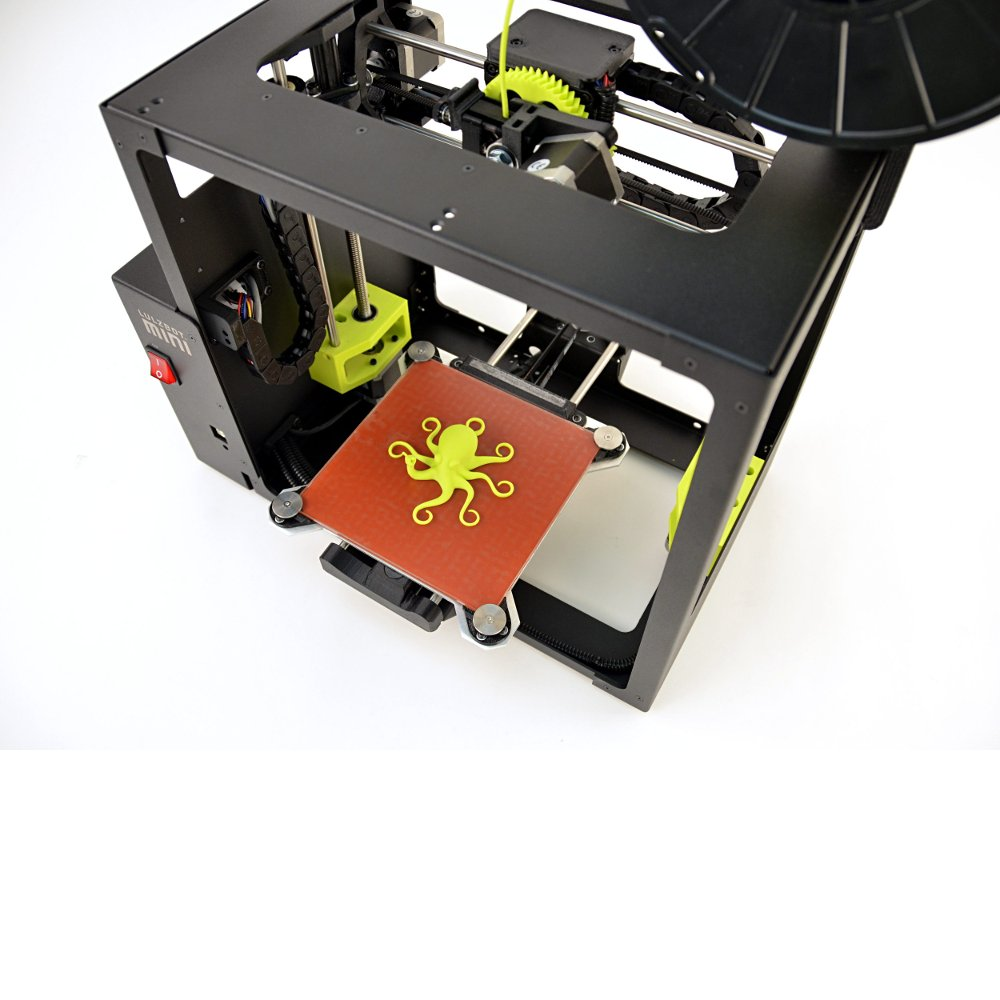 lulzbot mini 3d printer with a heated bed