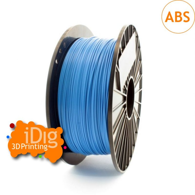 Premium blue ABS 3D printer filament from iDig3Dprinting