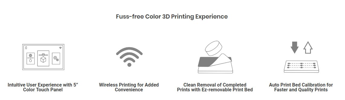xyz printing da vinci color mini features