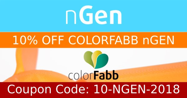 10% off colorfabb ngen filaments