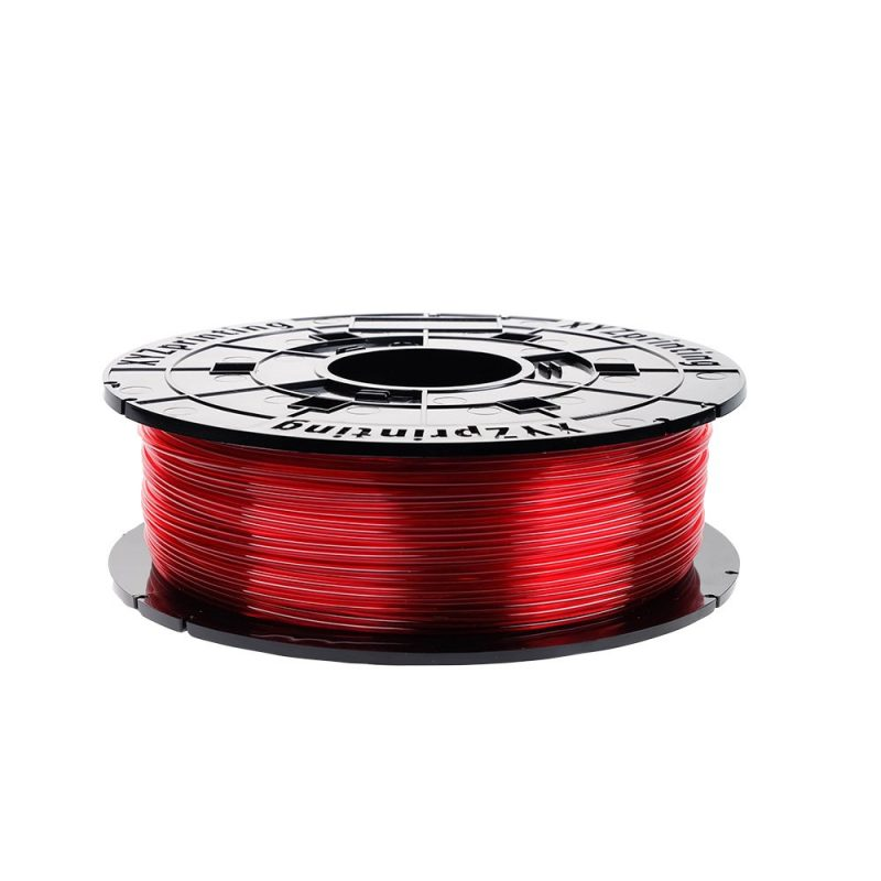 Clear Red NFC XYZ printing PETG filament for use with Da Vinci Junior Printers