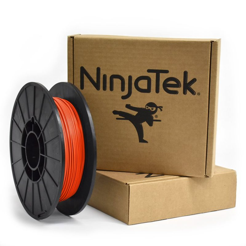Ninjatek lava orange cheetah flexible filament