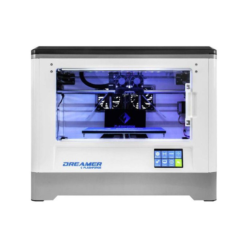 The Flasforge dual extruder 3D printer