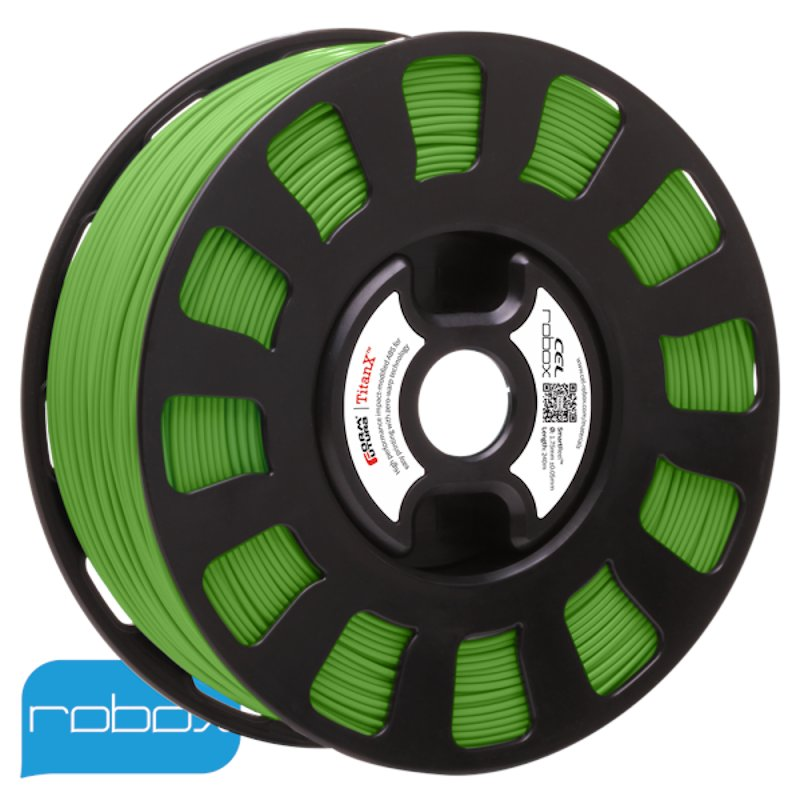 Green Titan X ABS filament by Cel Robox