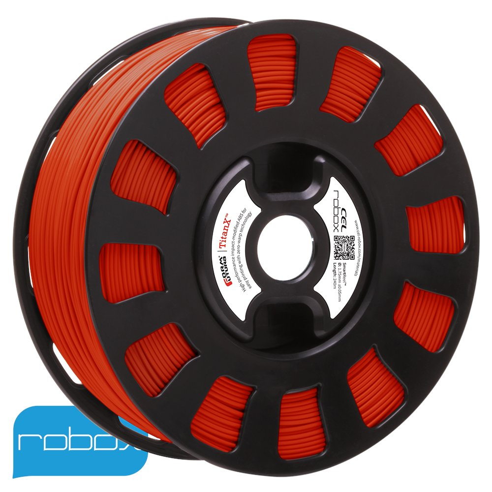Red Titan-X ABS Robox Filament