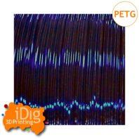 Blue transparent PETG 3D printer filament in 1.75mm & 2.85mm