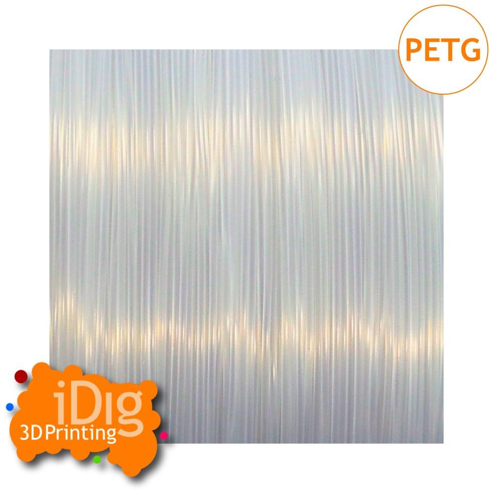 Natural transparent PETG 3D printer filament in 1.75mm & 2.85mm
