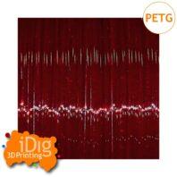 Red transparent PETG 3D printer filament in 1.75mm & 2.85mm