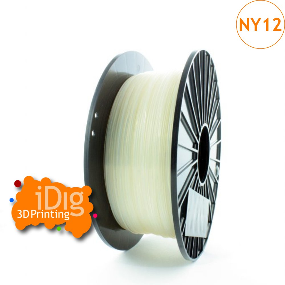 Natural Nylon PA12 filament - 1kg - 1.75mm and 2.85mm