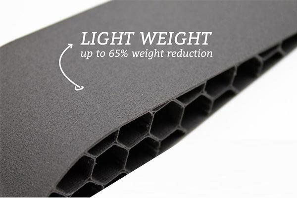 airfoil printed with light weight LW-PLA