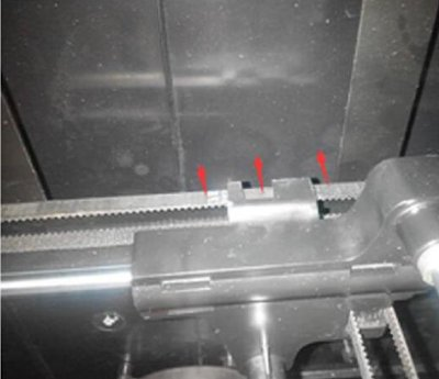 Replace Y linear rail upbox - step 6